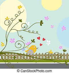 bird with heart