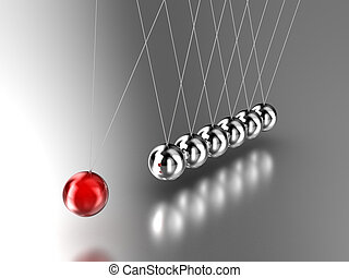 Pendulum - Illustration of the hanging pendulum from seven...