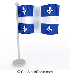 Flag of Quebec - Illustration of a flag of Quebec on a white...
