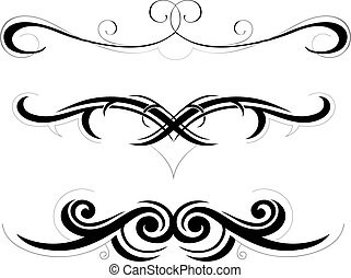 Tribal art illustration - Set of decorative shapes