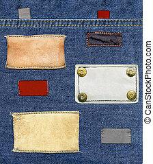Jeans' labels set