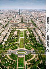 Champ-de-Mars, Paris - Champ-de-Mars view from Eifell tower