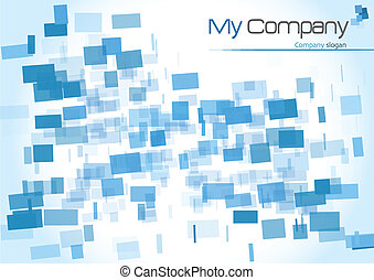 Abstract layout - Abstract blue layout for your print
