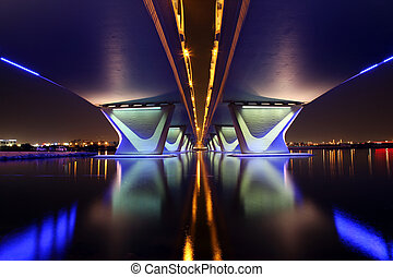 Al Garhoud Bridge in Dubai - The Al Garhoud Bridge in Dubai...