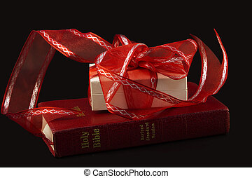 Confirmation of Love and Faith - Red Bible with white gift...