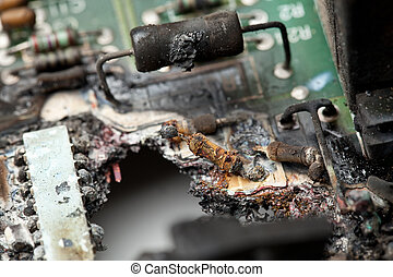 queimado, tábua, circuito