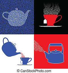 Tea party symbols - Four symbols for the tea party movement...