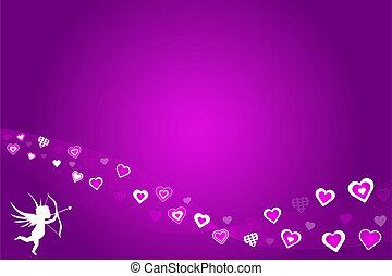 Purple Hearts Valentine Background
