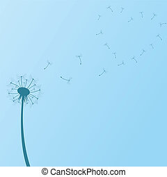 Blue Dandelion Background