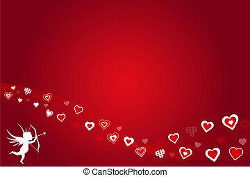 Red Valentine Hearts Background
