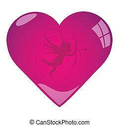 Pink Cupid Valentine Heart