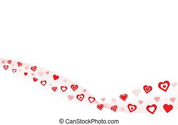 Red Hearts Valentine Background