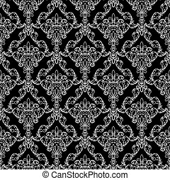 Seamless wallpaper pattern from abstract smooth forms,...