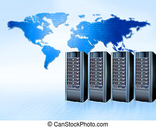 servers - global communication and servers,internet concept