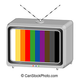 Symbol television - The object television test, object white...