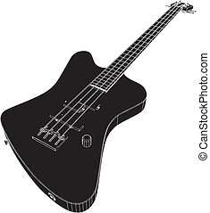Electric Bass Giutar Vector