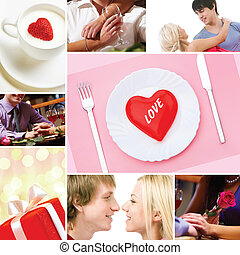 Valentine?s Day - Collage made of images of valentines and...