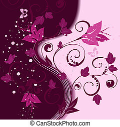 floral pattern abstract background