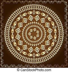 oriental arabesque pattern gold