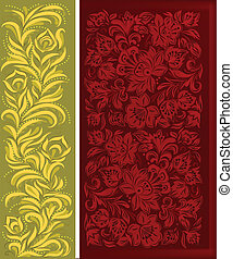 abstract background with gold floral ornament