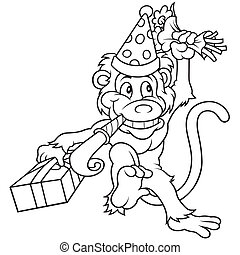 Monkey and Birthday Party