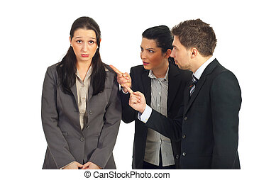 Two managers argue employer woman