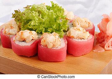 Sushi, Maguro, hotate, mayonesa