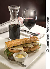 Bistro lunch - Beaugette with camembert cheese and dijon...