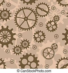 Abstract background with mechanism. Vector illustration....