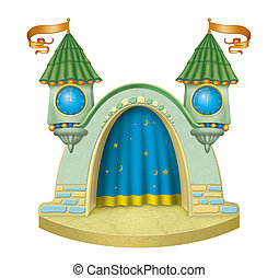 Cartoon childrens stage
