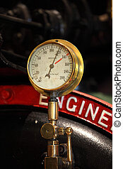 Pressure gauge - Historic pressure gauge of a steam engine