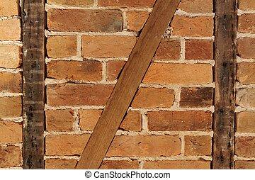 Masonry - Historic masonry with a half-timbered construction