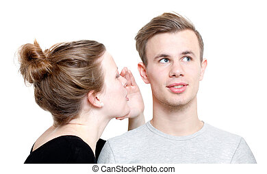 Whisper - A girl whispering to a guy