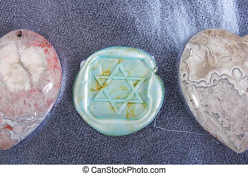 hearts and a seal - Hearts and a seal as Star of David
