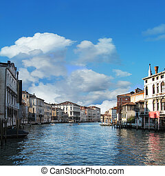 Grand Canal - View of famous Grand Canal, Venice