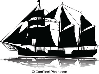 A large sailing ship