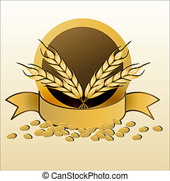 grain with ribbon - illustration of grain with ribbon on...