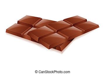 chocolates - illustration of chocolates on white background