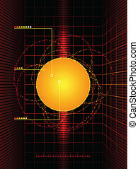Sun diagram - Scientific solar measurements abstract...