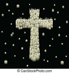 Candle cross - Candles form a cross shape