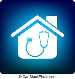 house doctor - stethoscope in the home