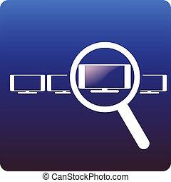choosing hdtv - magnifying glass on hdtv