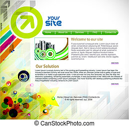 web site design - abstract business web site design...