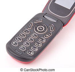 Phone - Mobile phone on white background, detail image