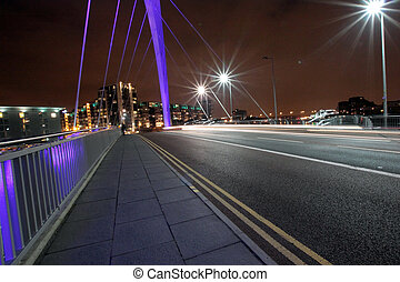 The Squinty Bridge night, Glasgow - The Squinty Bridge at...