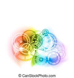 industrial cogwheels - Cogwheels as industrial abtract...