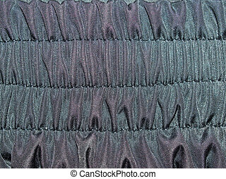 Black fabric texture - Black fabric shirr texture closeup...