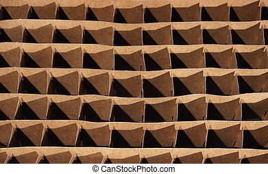 texture of cell from a cardboard