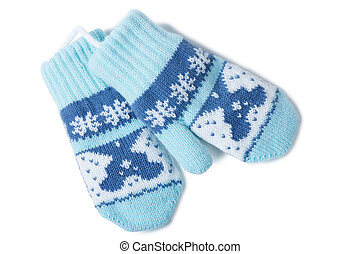 Baby mittens - Little baby mittens/gloves isolated on white...