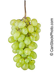 Grape fruit - Fresh green grape fruit on white background